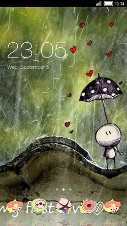 Rain CLauncher Android Theme Image 1