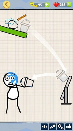 Bad Luck Stickman: Addictive Draw Line Casual Game Android Game Image 2