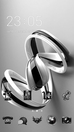 Ribbon CLauncher Android Theme Image 1