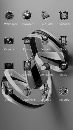 Ribbon CLauncher Android Theme Image 2