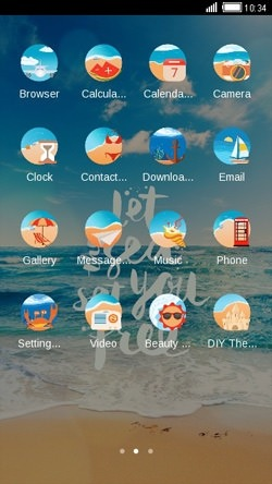 Beach CLauncher Android Theme Image 2