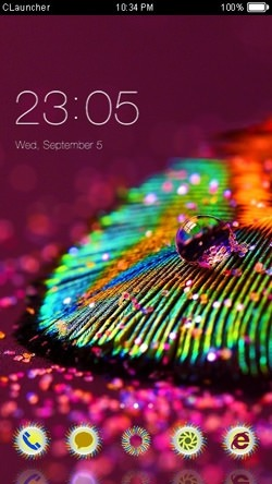 Macro Feather CLauncher Android Theme Image 1