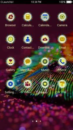 Macro Feather CLauncher Android Theme Image 2