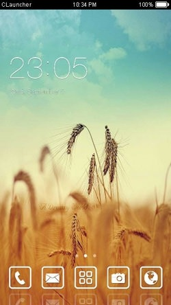 Golden Farm CLauncher Android Theme Image 1