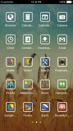 Golden Farm CLauncher Android Theme Image 2