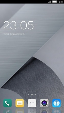 Gray CLauncher Android Theme Image 1