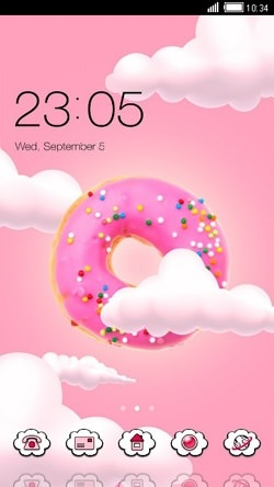 Pink Donut CLauncher Android Theme Image 1