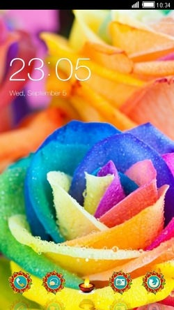 Colorful Rose CLauncher Android Theme Image 1