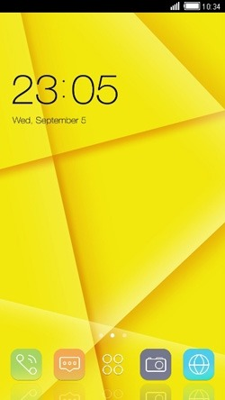 Yellow CLauncher Android Theme Image 1