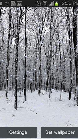 Snowfall Android Wallpaper Image 1