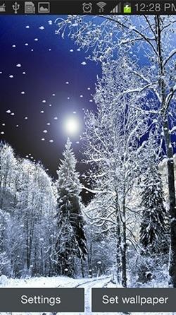 Snowfall Android Wallpaper Image 2
