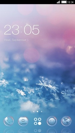 Snowflakes CLauncher Android Theme Image 1