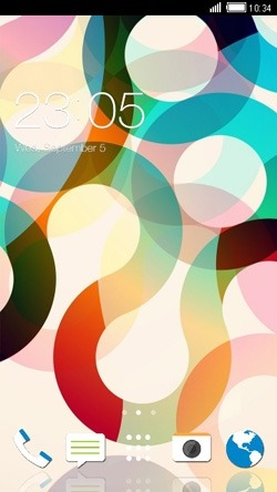 Abstract Circles CLauncher Android Theme Image 1