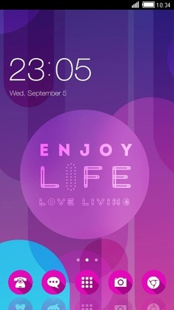 Enjoy Life CLauncher Android Theme Image 1