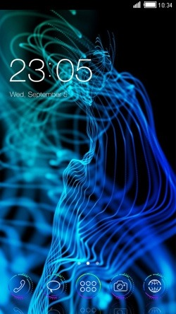 Neon Smoke CLauncher Android Theme Image 1