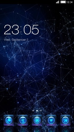 Galaxy CLauncher Android Theme Image 1