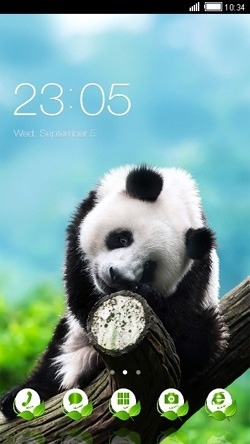 Panda CLauncher Android Theme Image 1