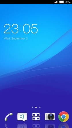 Blue CLauncher Android Theme Image 1