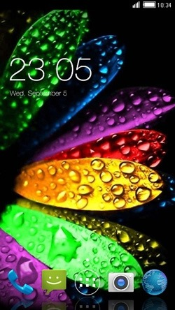 Dew On Patel CLauncher Android Theme Image 1