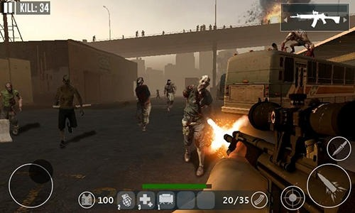 Dead Zombie Frontier War Survival 3D Android Game Image 4