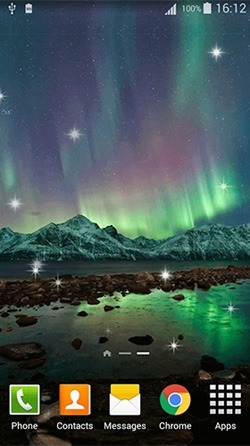 Northern Lights Android Wallpaper Image 1