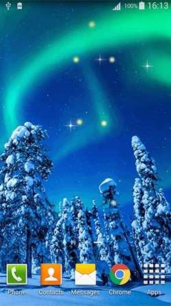 Northern Lights Android Wallpaper Image 2