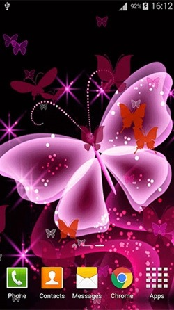 Pink Butterfly Android Wallpaper Image 3