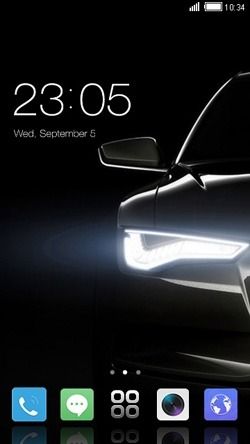 Car Headlight CLauncher Android Theme Image 1