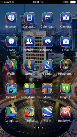 City CLauncher Android Theme Image 2