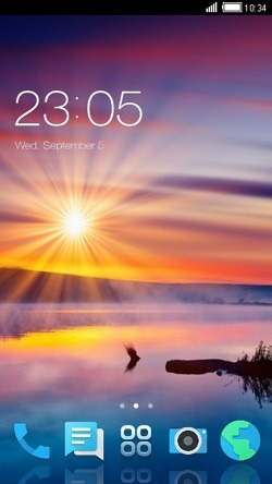Sunshine CLauncher Android Theme Image 1