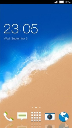 Beach CLauncher Android Theme Image 1