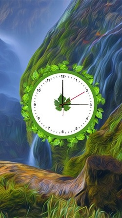 Nature: Clock Android Wallpaper Image 1