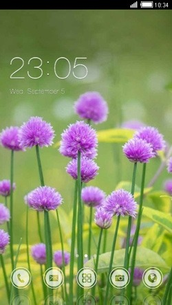 Purple Flowers CLauncher Android Theme Image 1