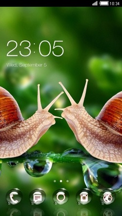 Snails CLauncher Android Theme Image 1