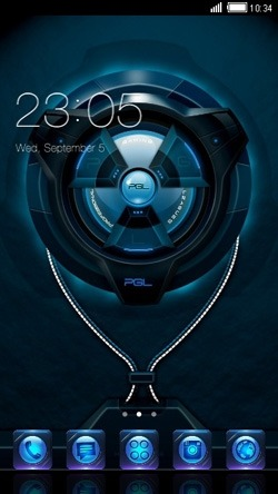 Digital CLauncher Android Theme Image 1