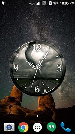 Tornado: Clock Android Wallpaper Image 2