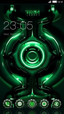 Tron Legacy CLauncher Android Theme Image 1