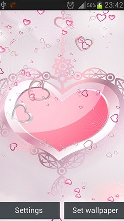 Pink Hearts Android Wallpaper Image 1