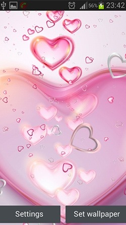 Pink Hearts Android Wallpaper Image 3