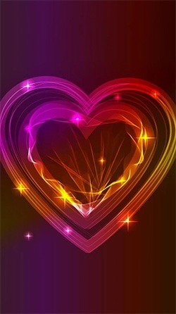 Neon Hearts Android Wallpaper Image 1