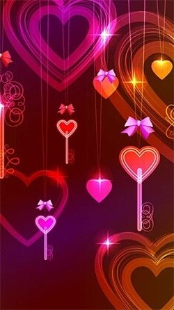 Neon Hearts Android Wallpaper Image 2