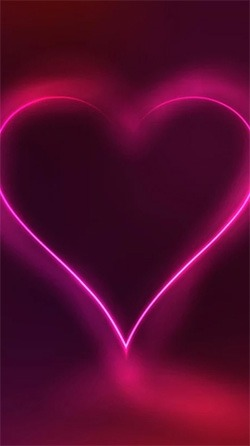 Neon Hearts Android Wallpaper Image 3