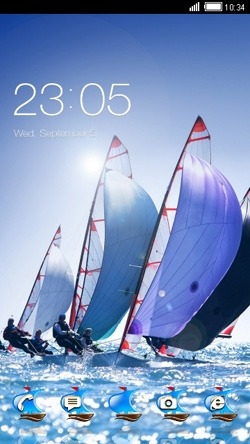 Sailboat CLauncher Android Theme Image 1