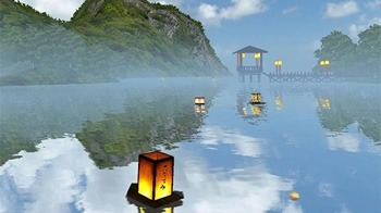 Lantern Festival 3D Android Wallpaper Image 1