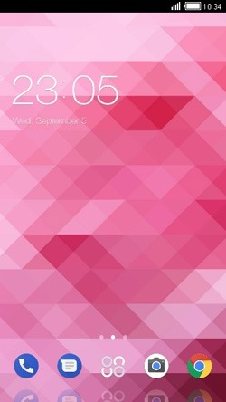Pink CLauncher Android Theme Image 1