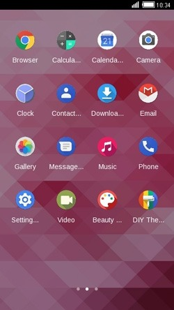 Pink CLauncher Android Theme Image 2