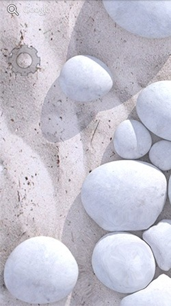 White Pebble Android Wallpaper Image 2