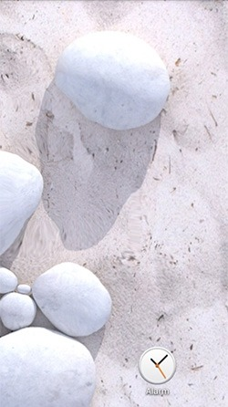 White Pebble Android Wallpaper Image 3