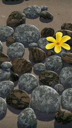 Zen Stones 3D Android Wallpaper Image 1