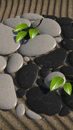 Zen Stones 3D Android Wallpaper Image 2